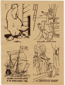 1942 Antique MARCH OF PROGRESS Art Education, Print Set, Children's Game