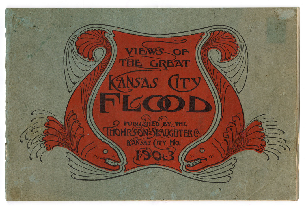 Antique 1900's VIEWS OF THE 1903 KANSAS CITY FLOOD Photo Book, Missouri