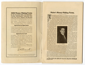 1906 Antique MAINE'S MONEY-MAKING FARMS, Farming and Agricultural Catalogue