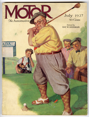 1927 Motor Magazine, Robert Robinson Cover, Automobiles, Car Advertisements