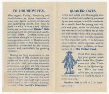 Load image into Gallery viewer, Early 1900's Quaker Oats Trade Card Pamphlet, Breakfast Cereal, Morning Glories