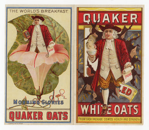 Early 1900's Quaker Oats Trade Card Pamphlet, Breakfast Cereal, Morning Glories