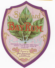Load image into Gallery viewer, Antique, Unused BAY RUM LABEL, Cosmetic, Aftershave, Phil Eisemann, Lancaster, PA