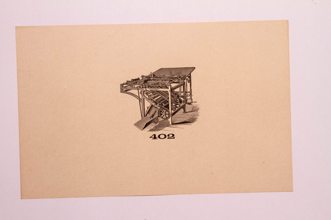 Old Letterpress and Printing Equipment Original Drawings | Presses #402
