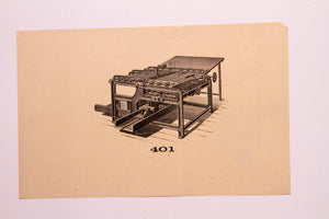 Old Letterpress and Printing Equipment Original Drawings | Presses #401