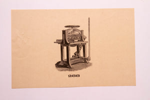 Old Letterpress and Printing Equipment Original Drawings, Press #288