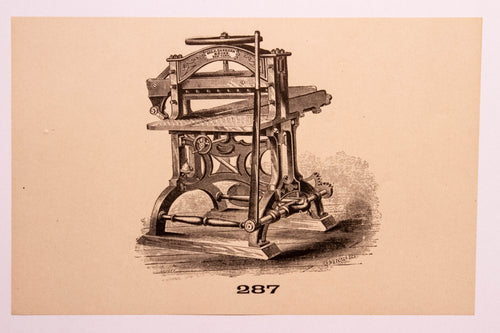 Old Letterpress and Printing Equipment Original Drawings, Press #287 Sanborn