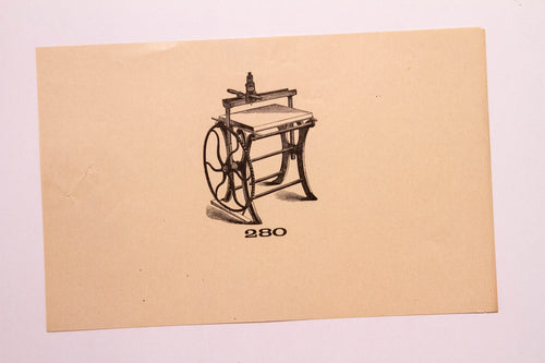 Beautiful Old Letterpress and Printing Equipment Original Drawings | Presses, 280 - TheBoxSF