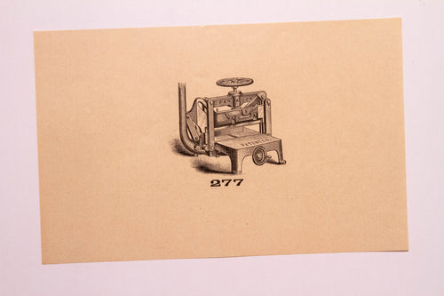 Beautiful Old Letterpress and Printing Equipment Original Drawings | Presses, 277 - TheBoxSF