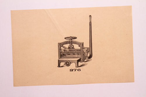 Beautiful Old Letterpress and Printing Equipment Original Drawings | Presses, 276