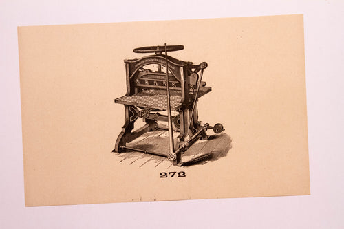 Beautiful Old Letterpress and Printing Equipment Original Drawings | Presses, 272