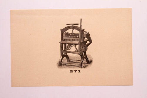 Beautiful Old Letterpress and Printing Equipment Original Drawings | Presses, 271 - TheBoxSF