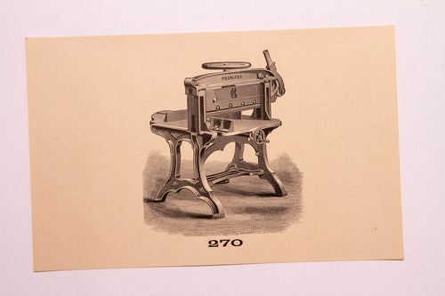 Beautiful Old Letterpress and Printing Equipment Original Drawings | Presses, 270