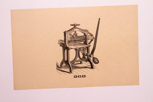 Beautiful Old Letterpress and Printing Equipment Original Drawings | Presses, 268 - TheBoxSF