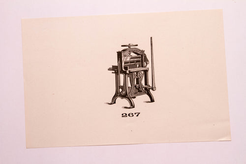 Beautiful Old Letterpress and Printing Equipment Original Drawings | Presses, 267