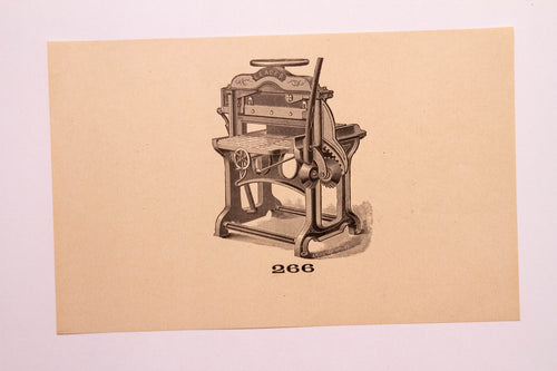 Beautiful Old Letterpress and Printing Equipment Original Drawings | Presses, 266 - TheBoxSF
