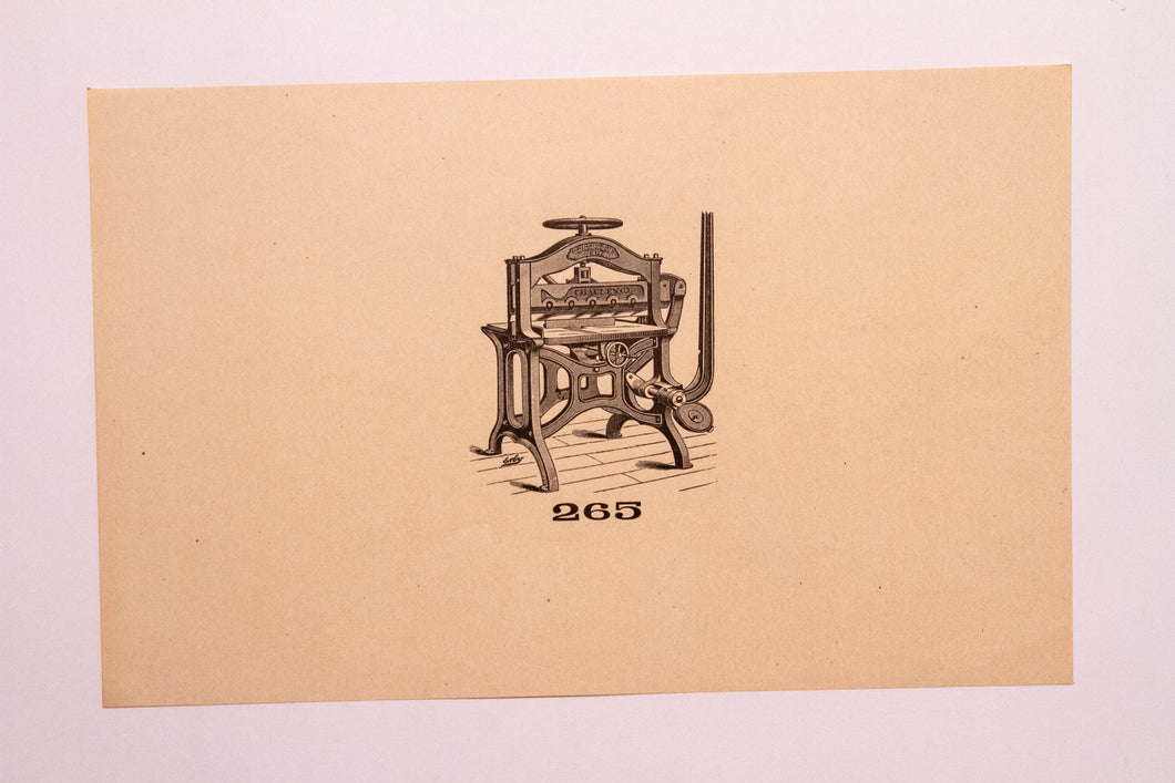 Beautiful Old Letterpress and Printing Equipment Original Drawings | Presses, 265 - TheBoxSF