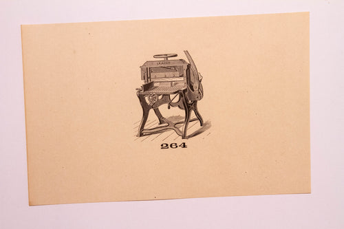 Beautiful Old Letterpress and Printing Equipment Original Drawings | Presses, 264 - TheBoxSF