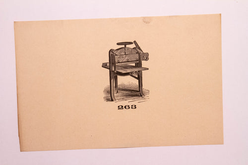 Beautiful Old Letterpress and Printing Equipment Original Drawings | Presses, 263 - TheBoxSF