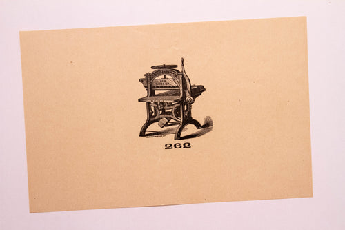 Beautiful Old Letterpress and Printing Equipment Original Drawings | Presses, 262