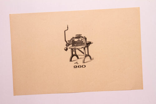 Beautiful Old Letterpress and Printing Equipment Original Drawings | Presses, 260 - TheBoxSF