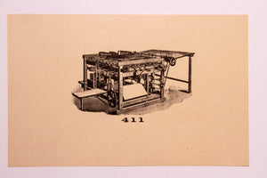 Old Letterpress and Printing Equipment Original Drawings | Presses #411