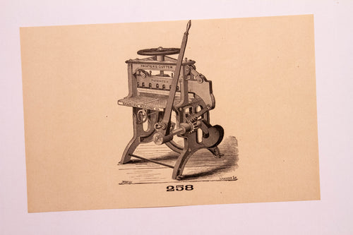 Old Letterpress and Printing Equipment Original Drawings, Press #258 Cutter