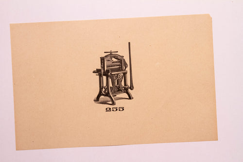 Old Letterpress and Printing Equipment Original Drawings, Press #255 American