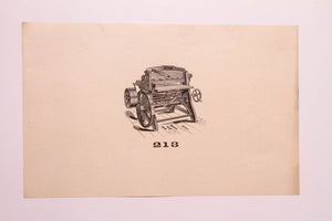 Old Letterpress and Printing Equipment Original Drawings, Press #213