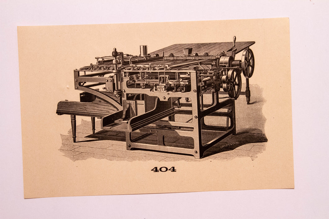 Old Letterpress and Printing Equipment Original Drawings | Presses #404