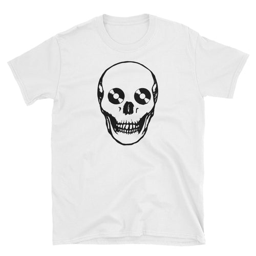 The Dead Collector's Greed Vinyl Records White Short-Sleeve Unisex T-Shirt
