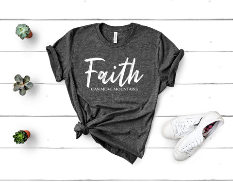 Faith Can Move Mountains Short Sleeve Tee