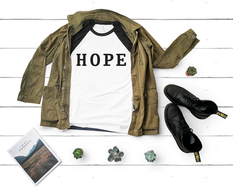 Image of HOPE 3/4 Sleeve Raglan Tee
