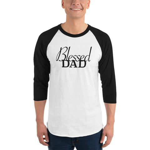 Blessed Dad 3/4 sleeve  shirt