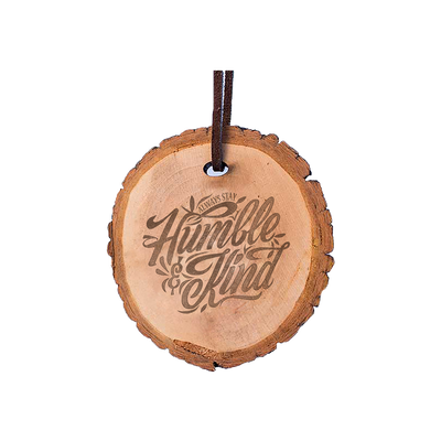 Humble & Kind Wood Cut Ornament