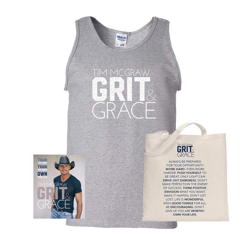 Grit & Grace Book + Tank + Tote Bag-Tim McGraw