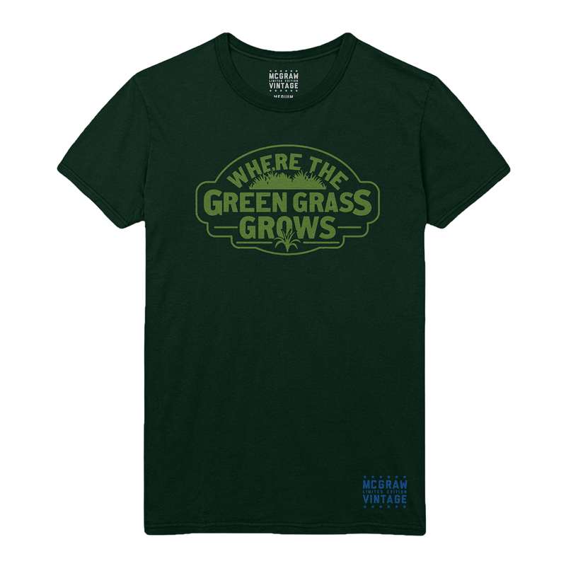 VINTAGE MCGRAW Green Grass Tee-Tim McGraw