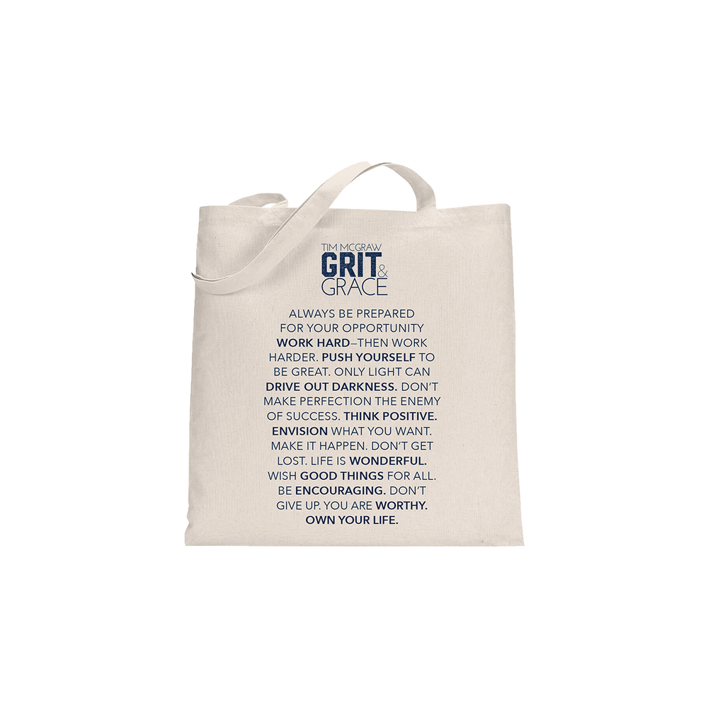 Grit & Grace Tote Bag