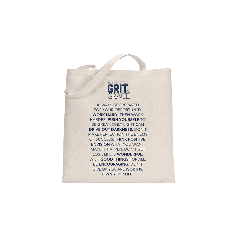 Grit & Grace Tote Bag-Tim McGraw