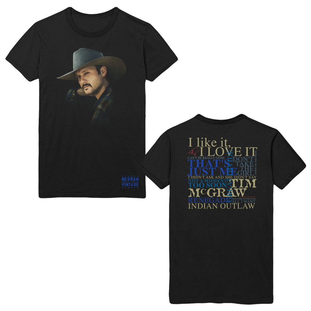 MCGRAW VINTAGE Lyric Tee-Tim McGraw
