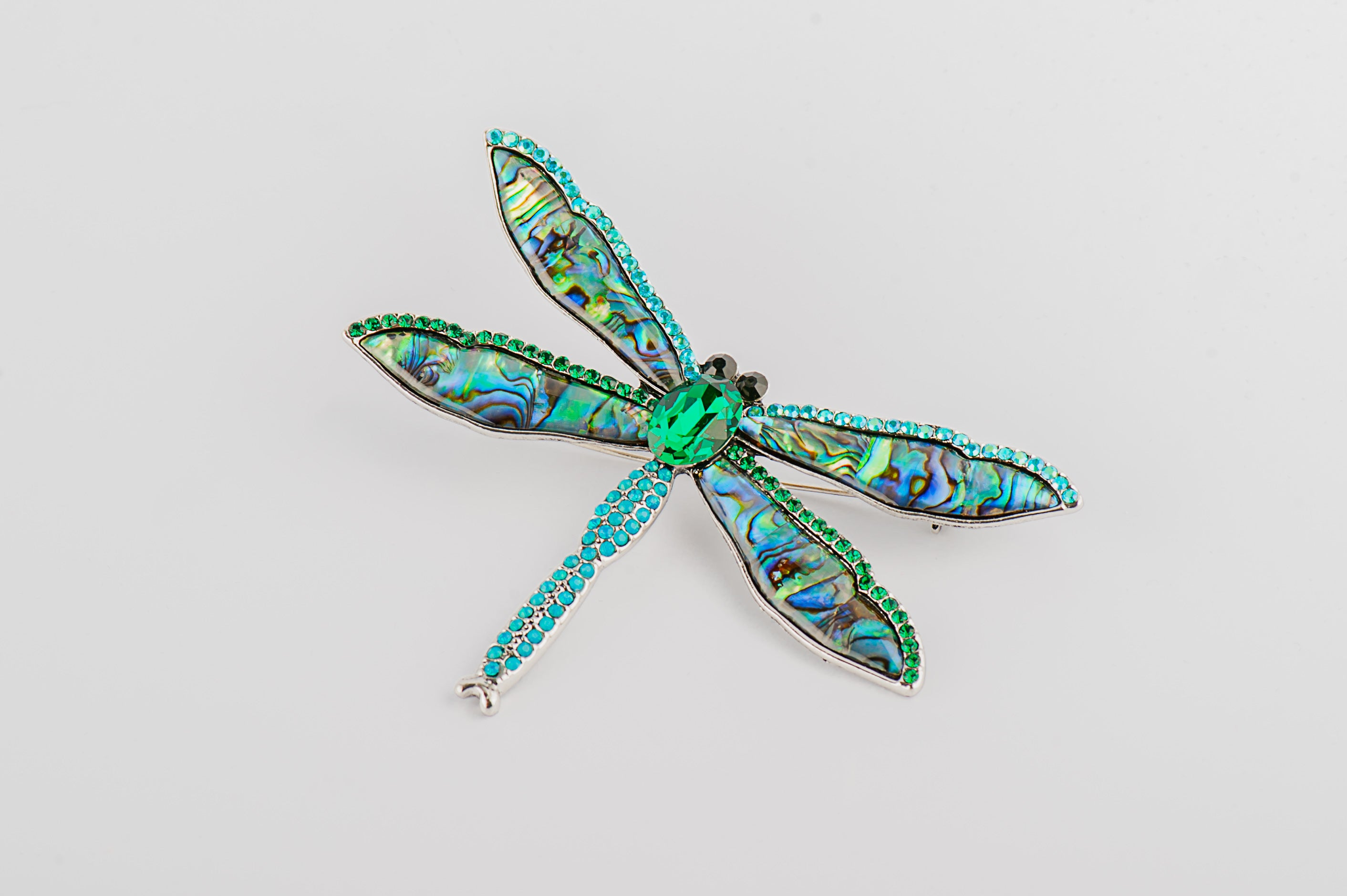 paua shell brooch pin uk vintage fashion accessories large colourful dragonfly brosa mare martisor cadou always cass brosa colorata libelula