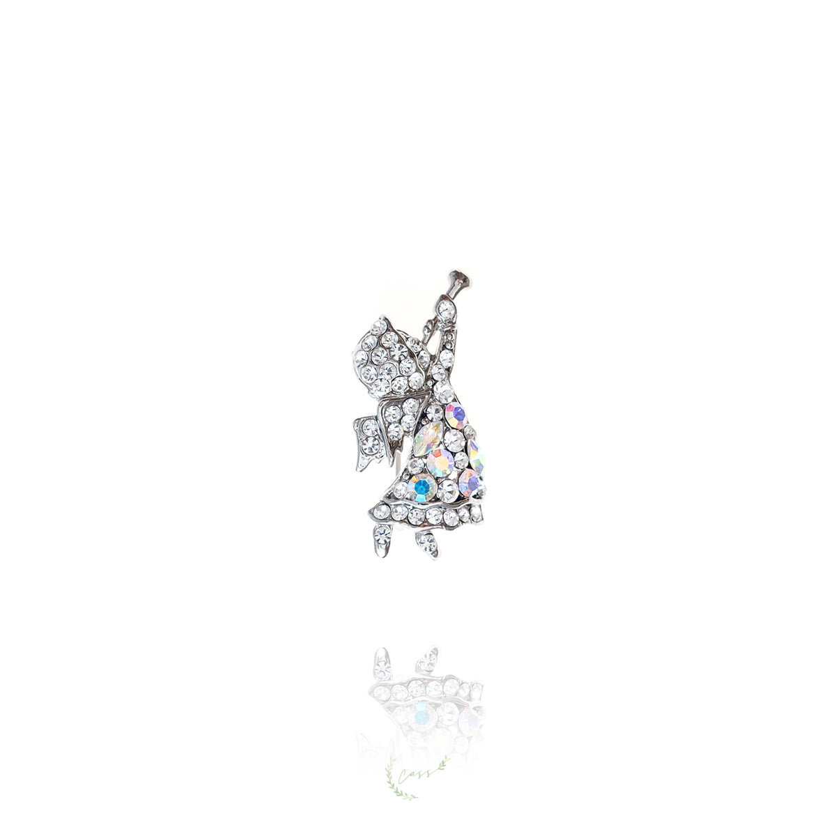 Angel cubic zirconia Brooch