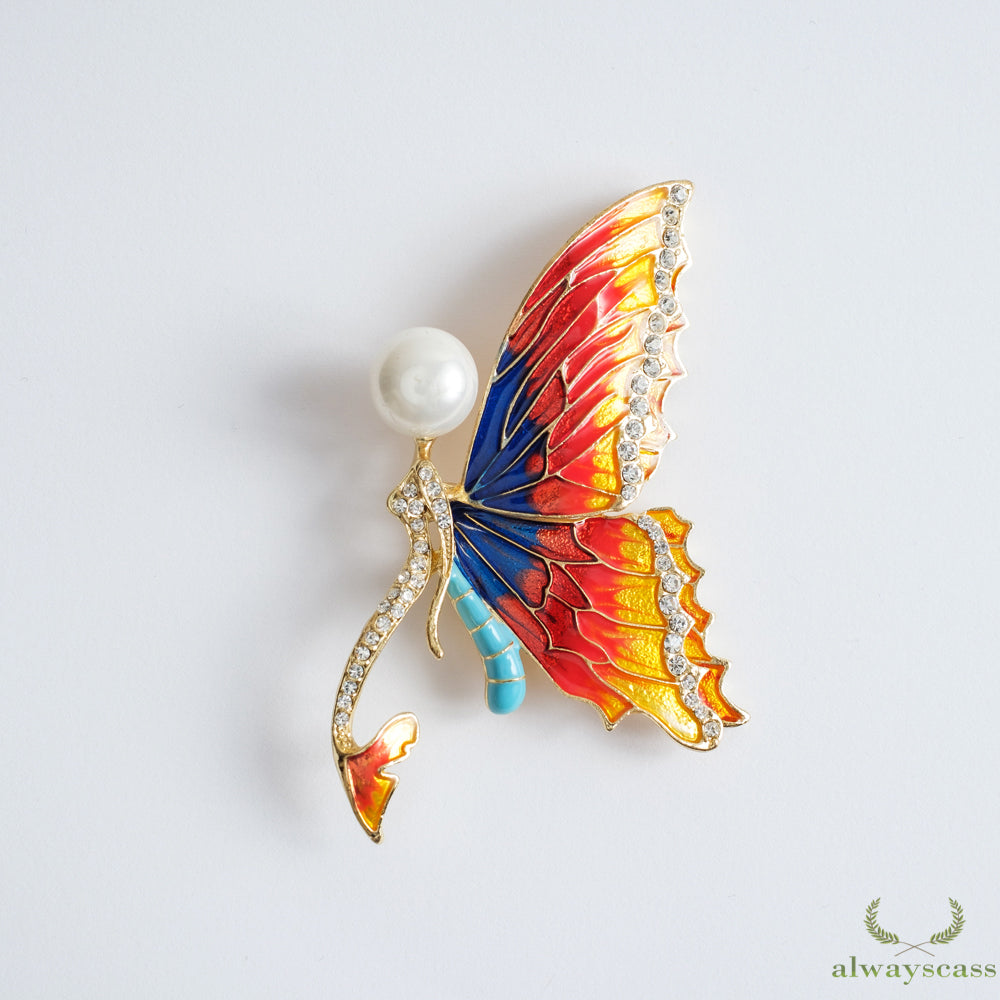 Butterfly Mermaid brooch