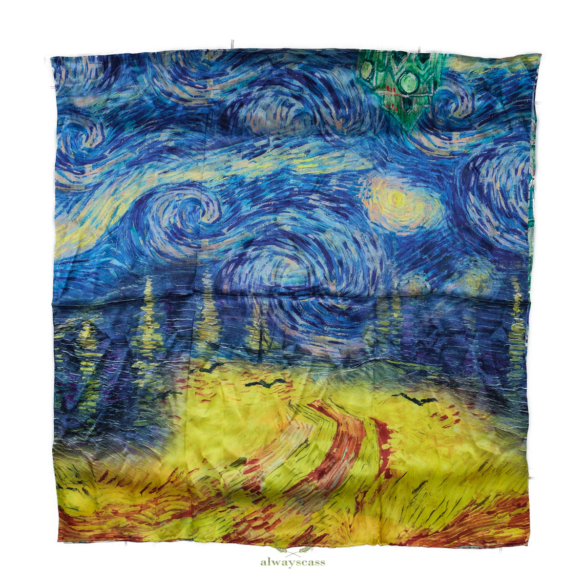 City Art Silk Scarf