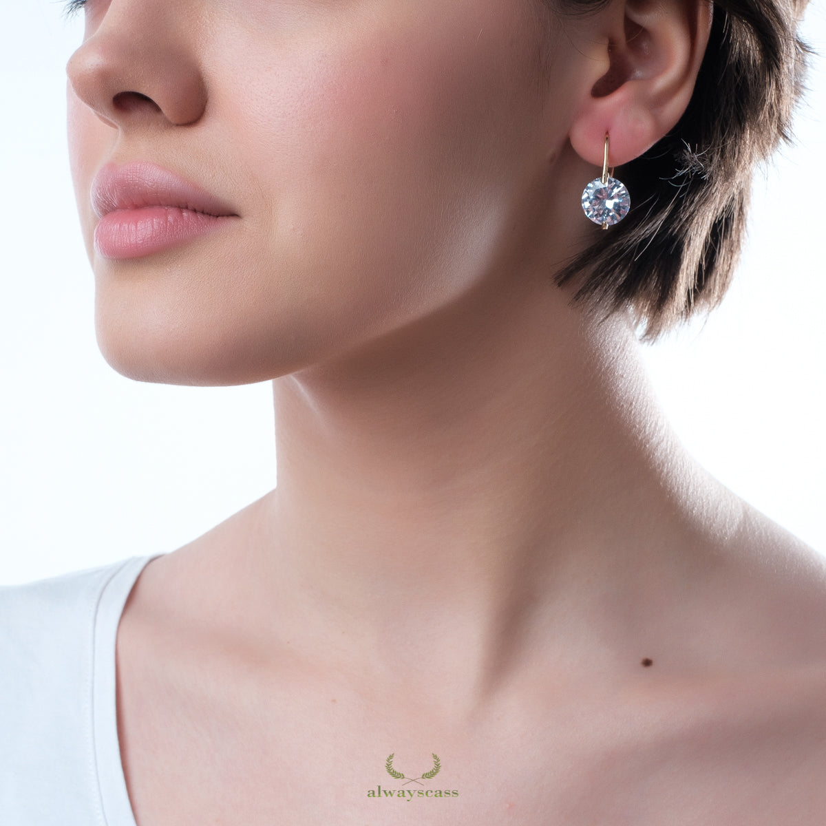 Dot Zircon Earrings