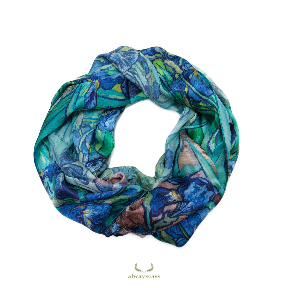 Iris Dream Silk Scarf