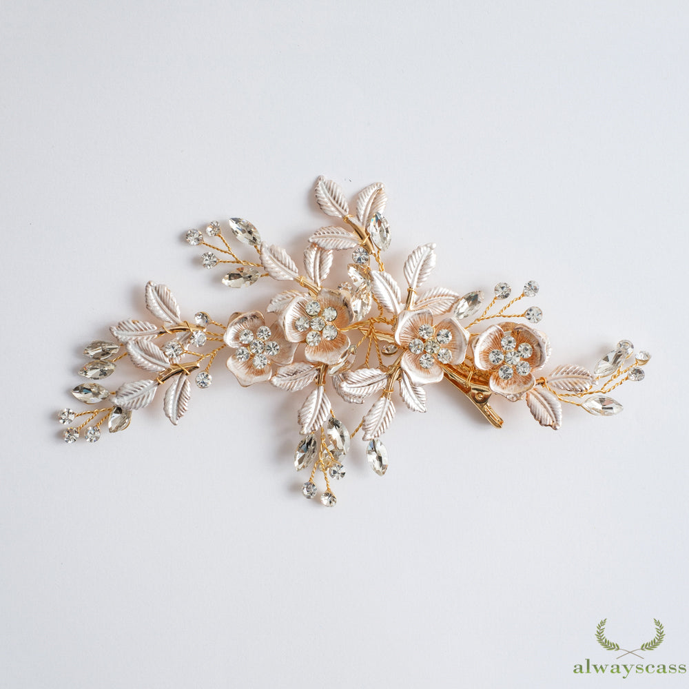 Magnolia bridal hair pin decoration