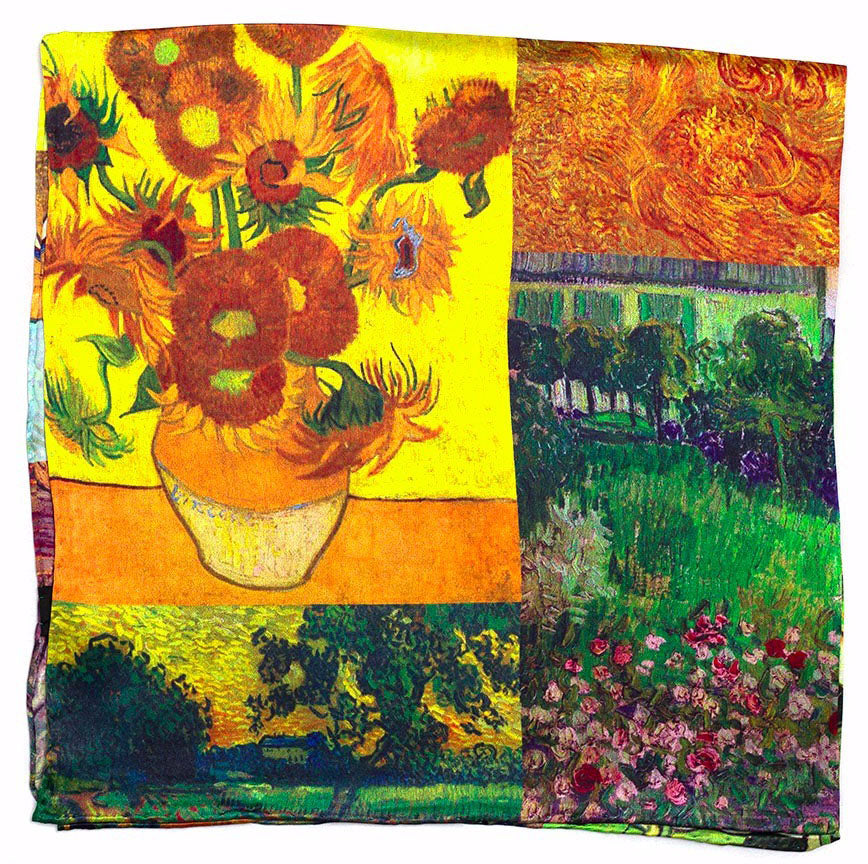 Sunflower Pot silk scarf