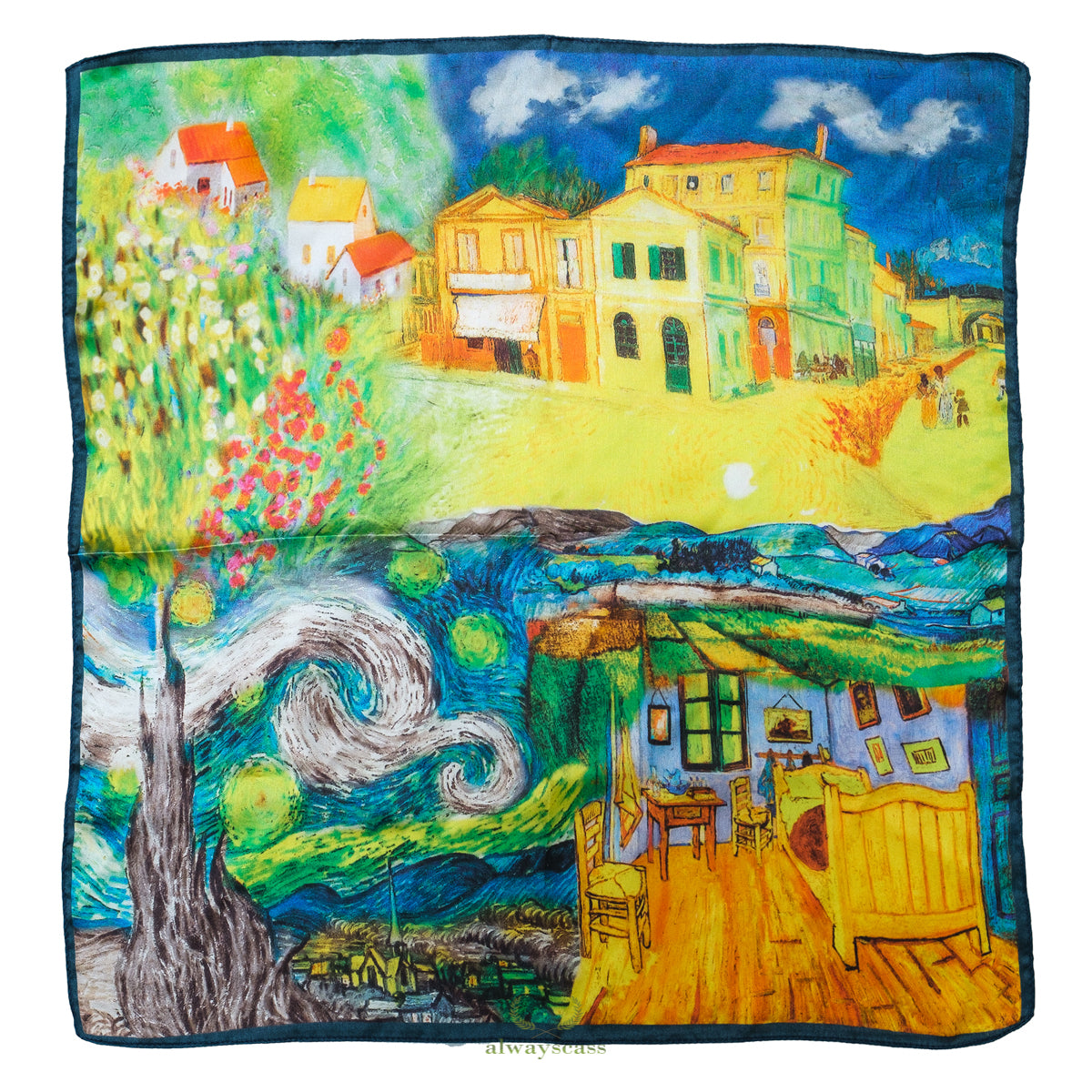 Bedroom In Arles Silk Scarf