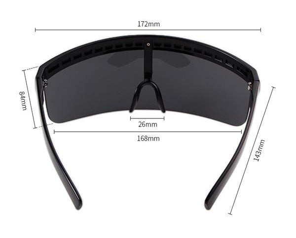 Max Oversize Visor Shield Sunglasses